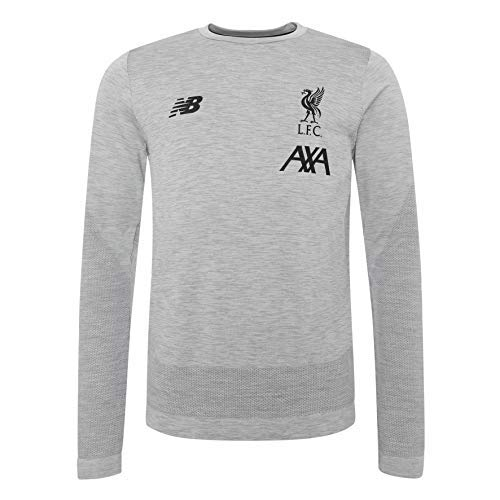 Liverpol FC Grey Marl Long Sleeve Mens Soccer Training Seamless Jersey 2019/2020 LFC Official