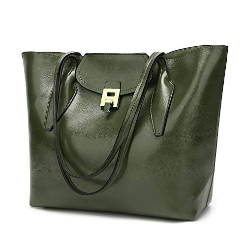 Large Leather Purse Bags Women Fashion Tote Red Bags PU Handbags Bags Green Shoulder Hobo XX4wqAgzP