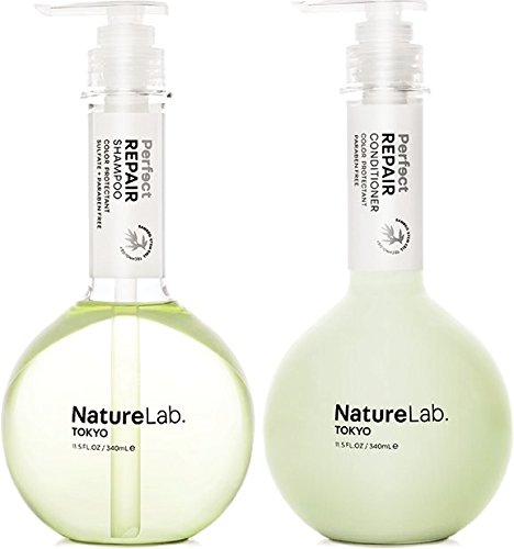 NatureLab. Tokyo – Perfect Repair restores severely damaged, chemically treated hair: Sulfate and cruelty free, protects color- 11.5 fl. oz. (Shampoo & Conditioner Duo)