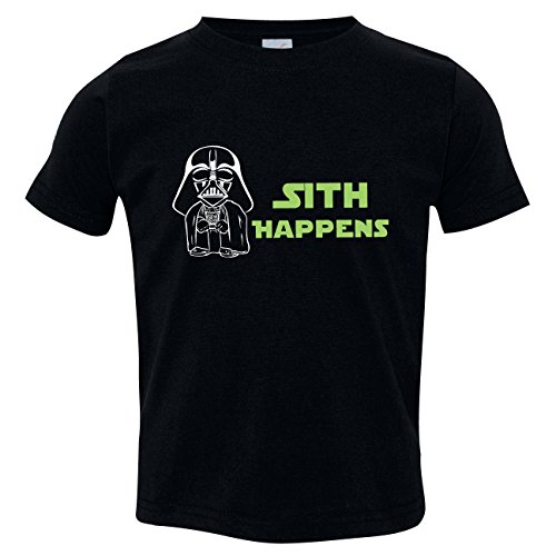 Sith Happens T Shirt, Funny Baby Clothes, Inspired by Star Wars, Black Size 4 ()