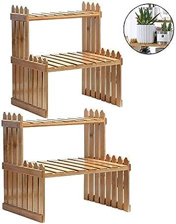 U.D. Chill iDeas - Soporte de bambú Natural para Plantas, 2 estantes, Color marrón: Amazon.es: Juguetes y juegos