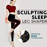EVERMARKET Sculpting Sleep Leg Shaper Pants Legging Socks Women Girls Body Shaper Knitting Panties (M)