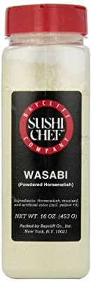 Sushi Chef Wasabi (Powdered Horseradish), 16-Ounce Plastic Container