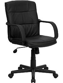 Marvelous Flash Furniture Mid Back Leather Swivel Task Chair
