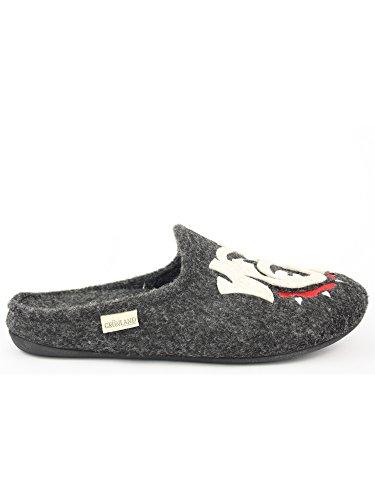 GRUNLND - Zapatillas de estar por casa de Material Sintético para hombre gris antracita