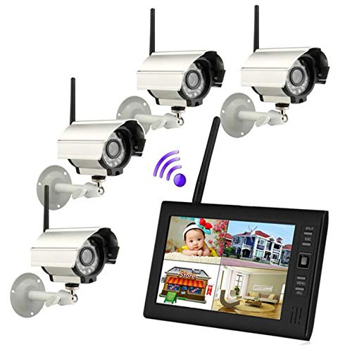 Display 380 Lines Tv - 4CH DVR Security System 7 inch TFT Digital 2.4G Audio Video Wireless Cameras With IR night light 380 TV line Cameras