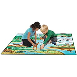 Melissa & Doug Jumbo Habitats Activity Rug, 58 x 79""