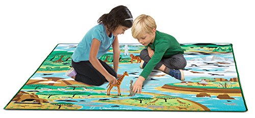 Melissa & Doug Jumbo Habitats Activity Rug,