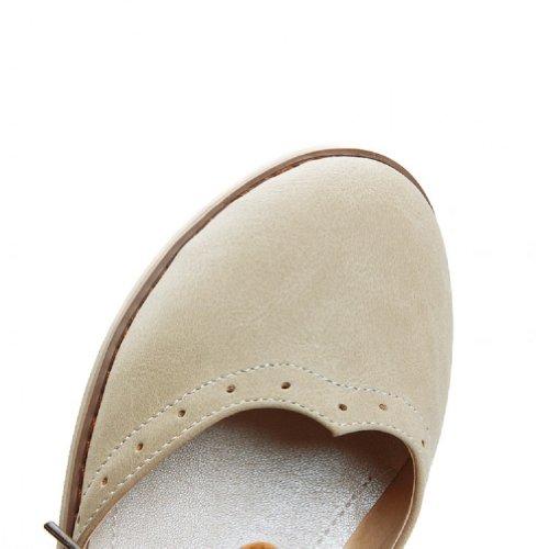 Charme Pied Vintage Femmes Casual Sandales Plates Chaussures Beige