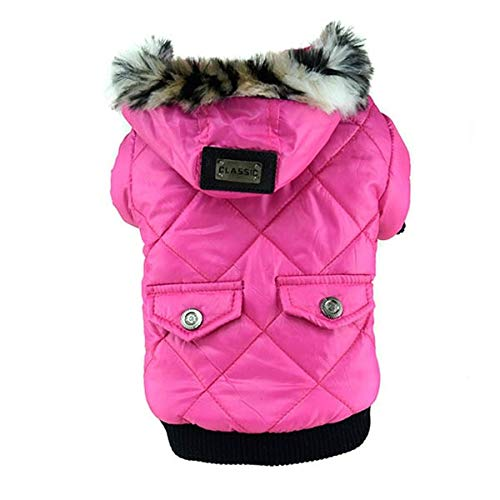 Cowmole Co. Winter Dog Cloth Large Puppy Dog Cute Warm Coat Dog Jacket with Fur Cap Hat Dog Hoodies Jacket Costume French Bulldog Chihuahua ()