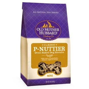 Bones Oven Baked Treats - Old Mother Hubbard Classic Oven Baked Dog Biscuits 20 oz. Mini Peanut Butter