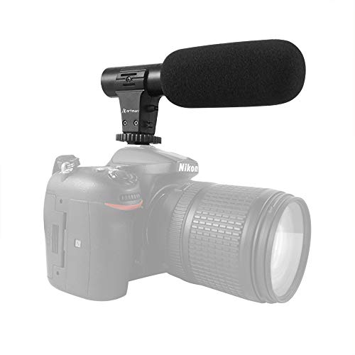Artman Camera Video Microphone,Interview Video Mic Recording Voice Microphones for Gopro Hero 5/6/7,Canon,Nikon,Sony and More DSLR Camera/Camcorders (with 3.5mm Interface)