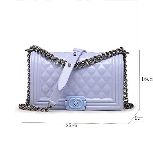 De Petit Épaule Blue Femelle Chaîne Paquet Carré Bags Parfum Diagonal Sac Ww lady Gelée Light HCwAq40