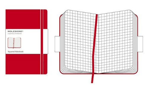 Moleskine Classic Notebook, Pocket, Squared, Red, Hard Cover (3.5 x 5.5) (Classic Notebooks)
