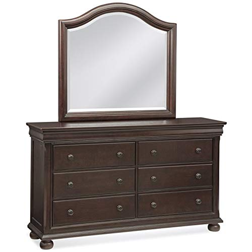 American Woodcrafters 1310DRMR Hyde Park Dresser and Mirror Combo