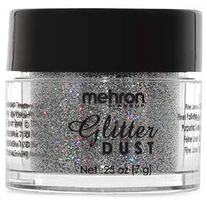 Mehron Makeup GlitterDust (.25 oz) (Holographic Silver) ()
