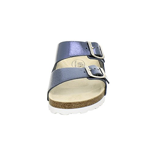 AFS-Schuhe 2100, Sportliche Damen-Pantoletten, Praktische Arbeitsschuhe, Hochwertiges, Echtes Leder Ocean