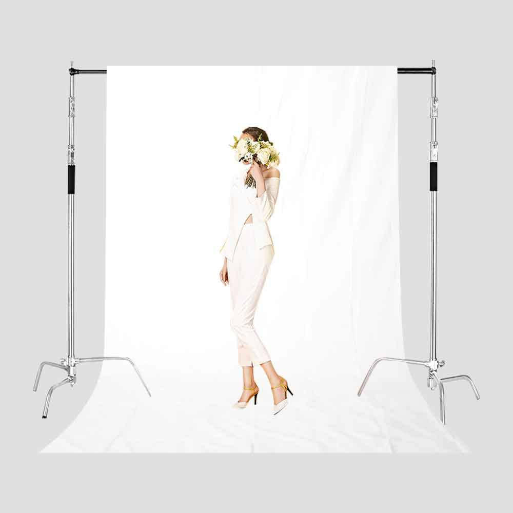 Photography Background White Polyester Cloth Backdrop 5x7ft Studio Props  Photo Booth YouTube Backdrop MEETSIOY BDLMT1