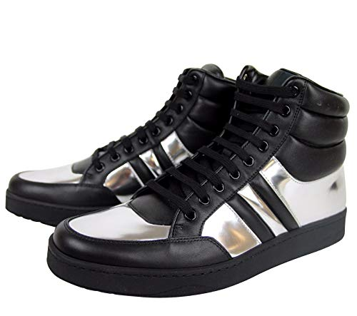 ast Padded Black/Silver Leather Sneaker 368494 1086 (9.5 G / 10 US) ()