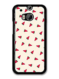 Cute Watermelon Pattern Illustration case for HTC One M8 by ruishername