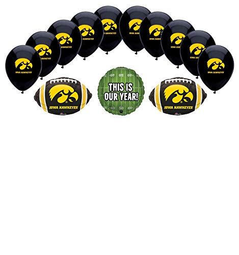 University Of Iowa Party (Mayflower Products University of Iowa Hawkeyes Football Tailgating Party Balloon Bouquet)
