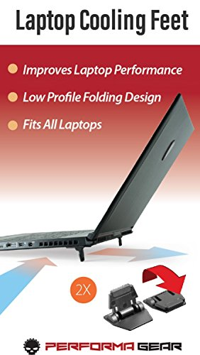 Laptop Cooling Feet, Improves Laptop Cooling Performance. Works with All laptops, Mobile workstations, Gaming. Alienware, Dell, Apple, HP, Lenovo, MSI, Razor, Asustec, Acer.
