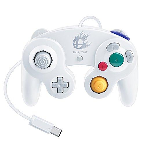 Nintendo Super Smash Bros. White Classic Gamecube Controller (Real Gamecube Controller)