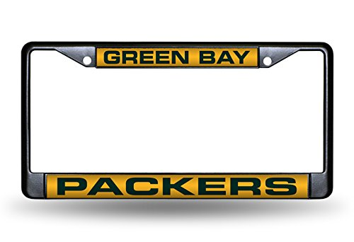- Rico Industries NFL Green Bay Packers Laser Cut Inlaid Standard Chrome License Plate Frame, 6