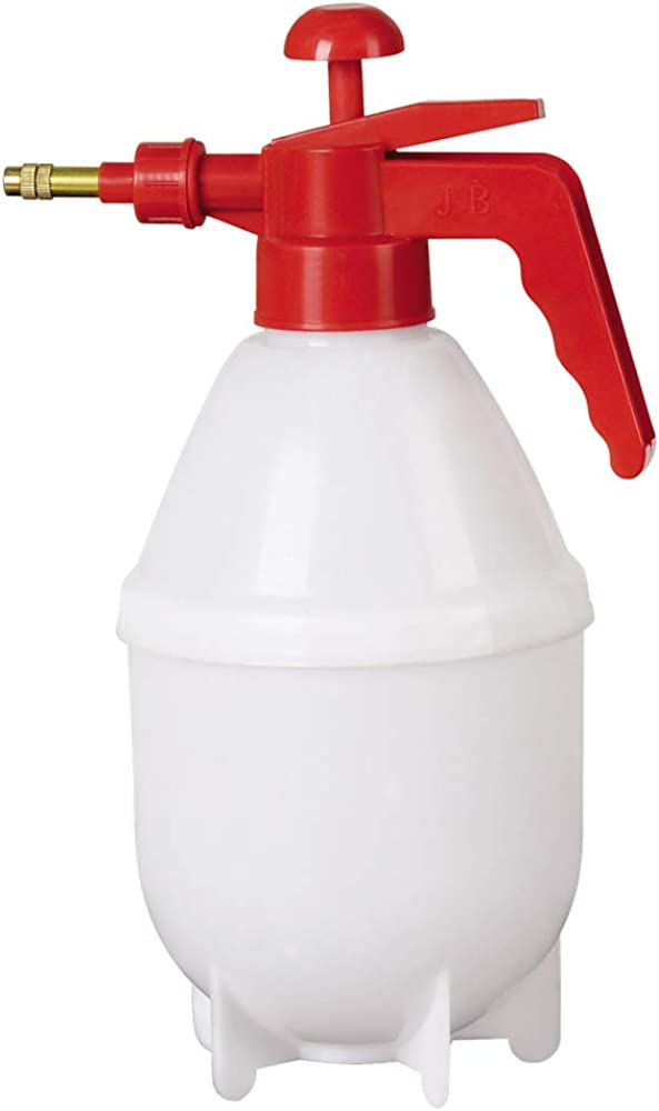 Ogquaton Pulverizador de riego neumático Botella de Ducha de Alta presión Boquilla Larga Pulverizador Pulverizadores manuales Jardinería Ajustable Pequeña regadera 1.5L Nuevo lanzado