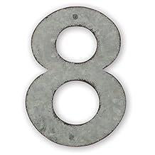 Sunset Vista Design Studios Magnetic Sign 4-Inch Metal Address Tile, Number 8