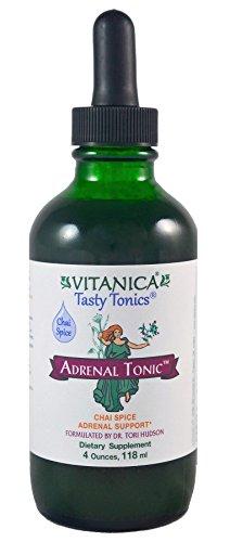 Vitanica - Adrenal Tonic, Adrenal Support, Vegetarian, 4 Ounce