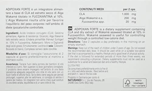 Naturando Adipoxan Forte, Integratore Alimentare per il Controllo del Peso Corporeo, 30 Capsule