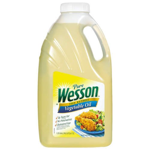 Pure Wesson Vegetable Oil - 1.25 gal (Oil Wesson)
