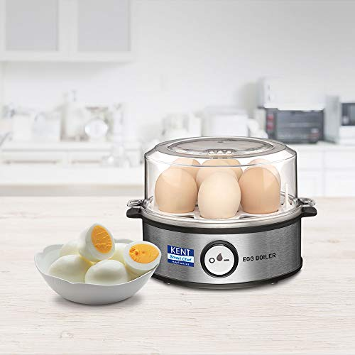 Kent Instant Egg Boiler 360w Transparent and Silver Grey best price deals offers