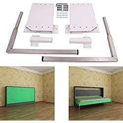 ECLV DIY Murphy Wall Bed Springs Mechanism Hardware Kit ,Horizontal Wallbed Mounting,White