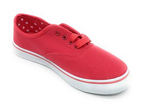 Blue Berry Easy21 Donna Scarpe Stringate In Tela Moda Casual Comfort Sneakers Corallo