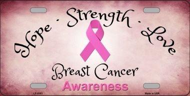 Smart Blonde LP-8303 Breast Cancer Novelty Metal License Plate SmartBlonde