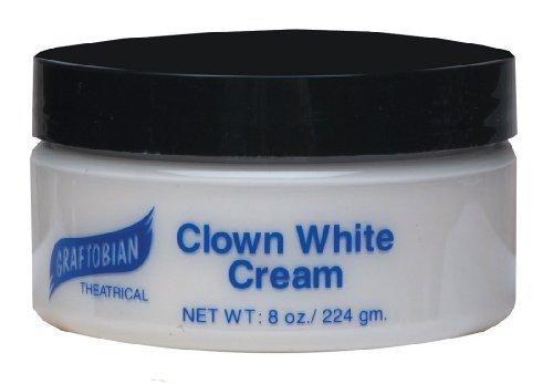 (Graftobian - Clown White Creme Foundation (8 oz.), White, 8 oz.)