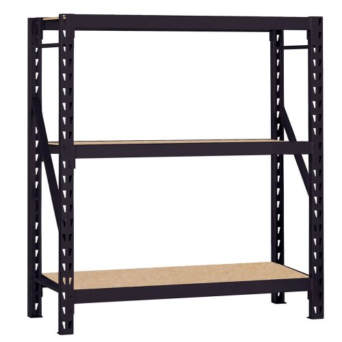 Edsal ERZ601866PB3 Muscle Rack Black Steel Bulk Storage Rack, 3 Shelves, 1200 lb. Shelf Capacity, 66'' Height x 60'' Width x 18'' Depth by EDSAL