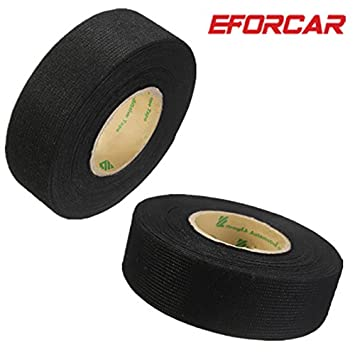 eforcar 2pcs wiring harness tape heat resistant adhesive cloth rh amazon co uk