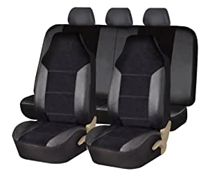 fh group fh fb103115 leather velour seat covers airbag compatible and split rear. Black Bedroom Furniture Sets. Home Design Ideas
