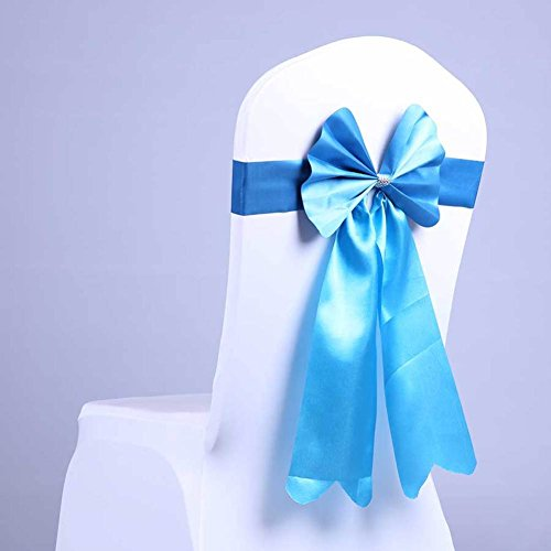 Free of bows and chairs Elastic chair back flower Wedding ribbon-A One Size -