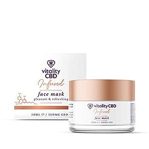 Vitality CBD Infused Face Mask, 300mg cannabidiol,...