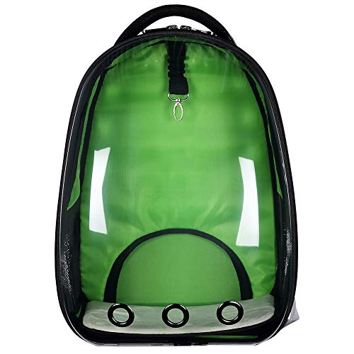 9aeb0db6632 BenchMart Transparent Portable Travel Pet Carrier, Fashionable Space  Capsule Bubble Cat Dog Carrier Backpack,
