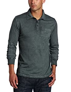 Prana Men's Excursion Long Sleeve Polo Shirt, Grey Blue, XX-Large