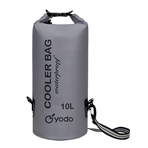 yodo 10L Insulated Cooler Bag - Waterproof Dry Bag with Collapsible Body & Shoulder Strap, Roll Top Closure, - Folding Cooler
