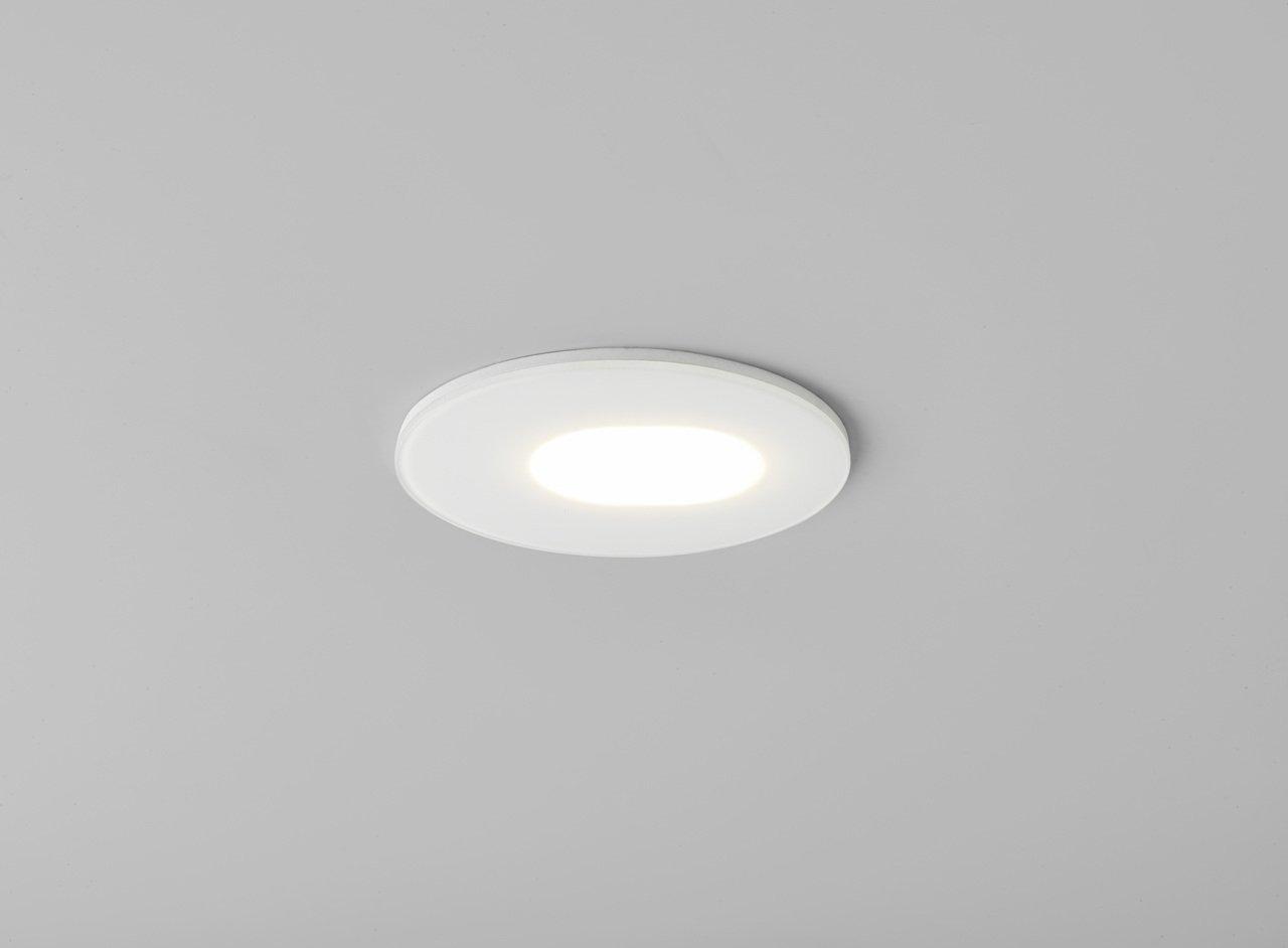 MAYFAIR 5744 Mayfair Adjustable Bathroom Downlight In White Amazoncouk Lighting