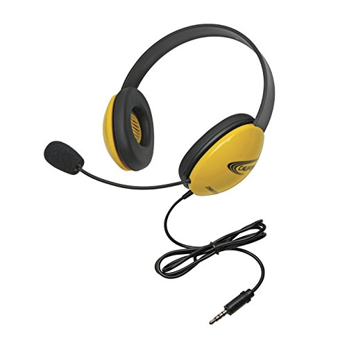 Califone 2800-YLT Headset with 3.5mm Plug, Yellow