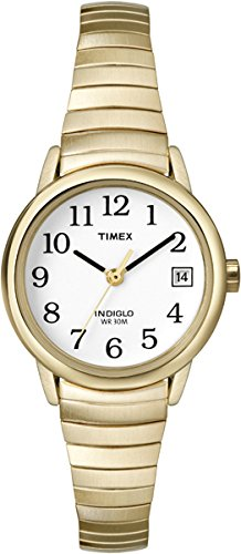 Timex Women's T2H351 Easy Reader Gold-Tone Stainless Steel Expansion Band (Timex Ez Reader)