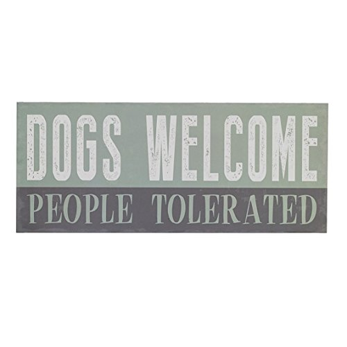 Barnyard Wall - Barnyard Designs Dogs Welcome People Tolerated Box Wall Art Sign, Primitive Country Farmhouse Home Decor Sign With Sayings 12